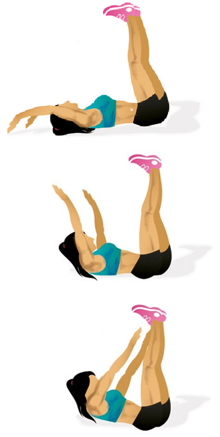 Toe Touches Main muscle: abdominals