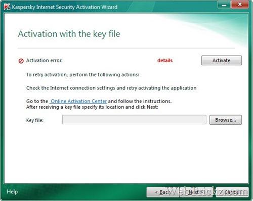 activate kaspersky 2011 using key file