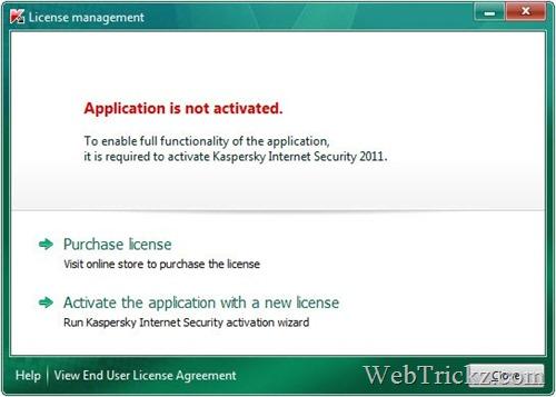 Activating Kaspersky 2011