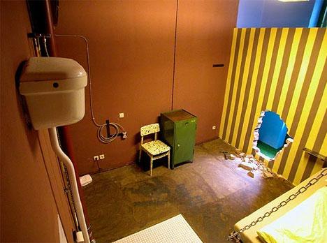Jail Cell Bizarre Art Hotel Room