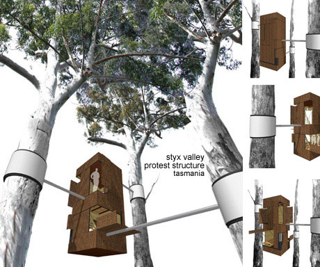 Environmentalist Save the Trees House Concept Design