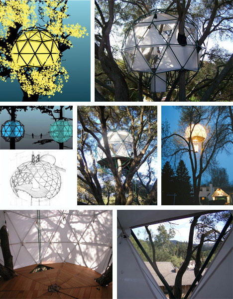 Geodesic Tree House Design and Drawings