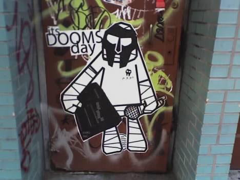 guerrilla marketing graffiti doom