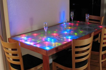 8 Awesome Modern Dining Room Furniture Designs   Ideas   Urbanist unusual dining room furniture led lighted table