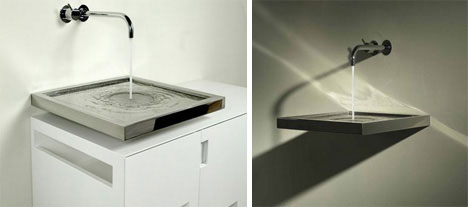Horizontal Drain Sink