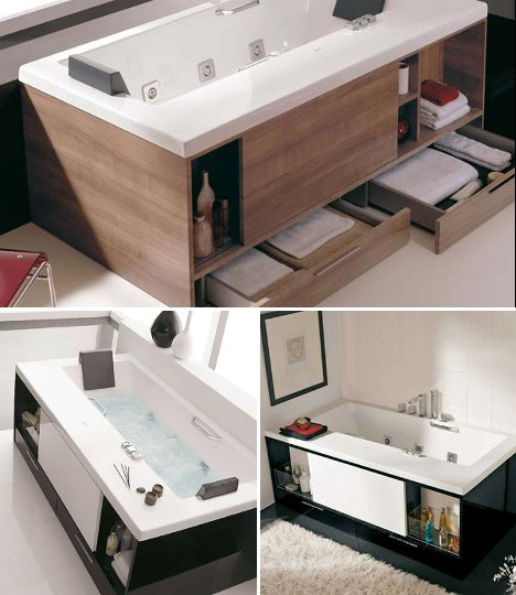 Storage Tubs For Bathrooms With Precious Little Space
