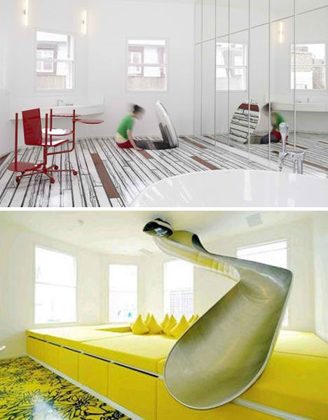 Private Playgrounds 13 Amazingly Fun Houses Urbanist | Spiral Staircase With Slide | Modern | 1930'S | Interior | Cool | Stainless Steel Spiral