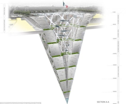 Earthscraper: Inverted Pyramid Spans 1000 Vertical Feet Down | Urbanist