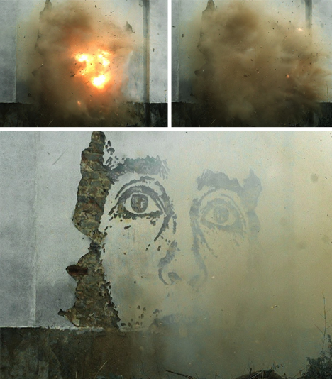 mural experimental stencil explosion