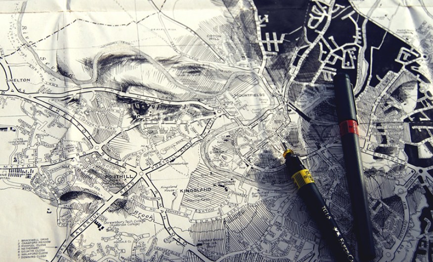 More Map Art: 27 Cool Cartographic Sculptures & Drawings   Urbanist