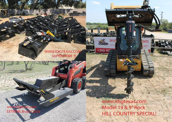 Skid Steer Steers- 2019 Attachment SUPERSALE! – TEXAS – www.idigtx.com (Central TX/FAST DELIVERY) $1