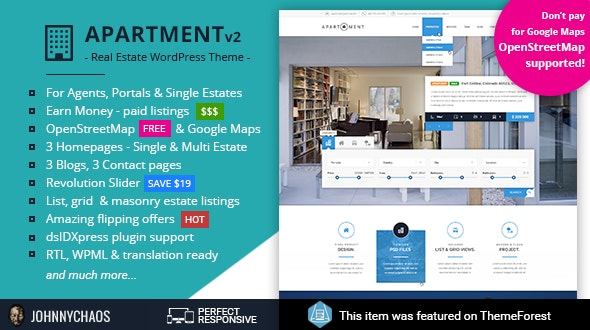 Apartment WP - Real Estate Responsive WordPress Theme for Agents, Portals, Single Property Sites 1