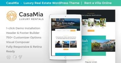 CasaMia | Property Rental Real Estate WordPress Theme 4
