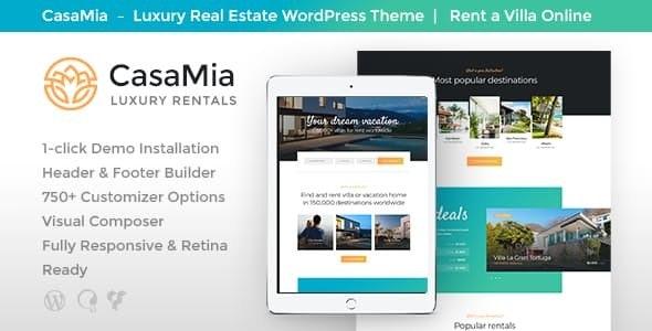 CasaMia | Property Rental Real Estate WordPress Theme 1