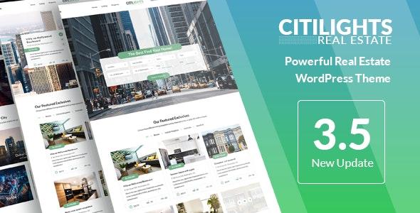 CitiLights - Real Estate WordPress Theme 1