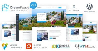 DreamPalace - Single Property Real Estate Theme 4
