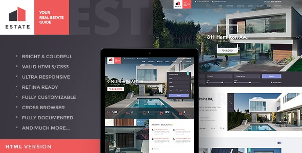 Estate - Property Sales & Rental WordPress Theme + RTL 1