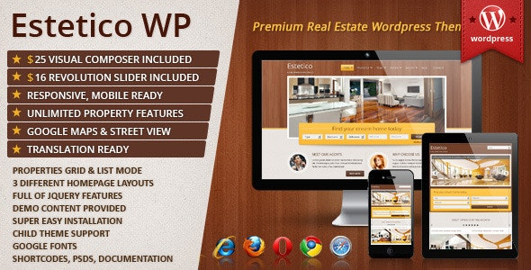 Estetico Premium Real Estate WP Theme 1