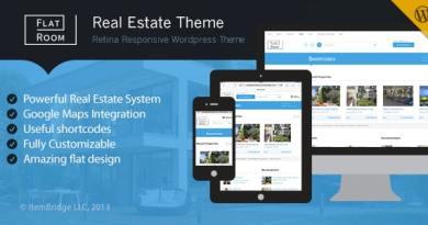 FlatRoom — Responsive Real Estate WordPress Theme 3