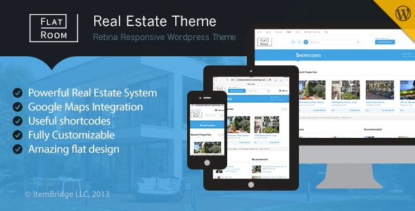FlatRoom — Responsive Real Estate WordPress Theme 1