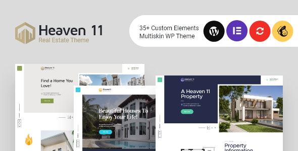 Heaven11 | Property & Apartment Real Estate WordPress Theme 1