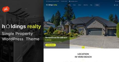 Holdings Realty - Single Property Theme 2