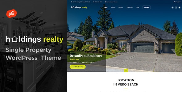 Holdings Realty - Single Property Theme 5