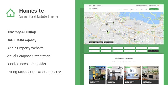 Homesite - Multi Concept Real Estate WordPress Theme 20