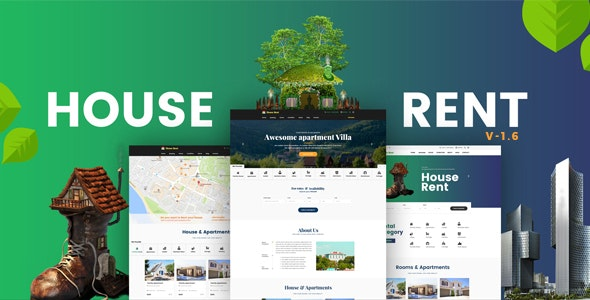 HouseRent - Multi Concept Rental WordPress Theme 1