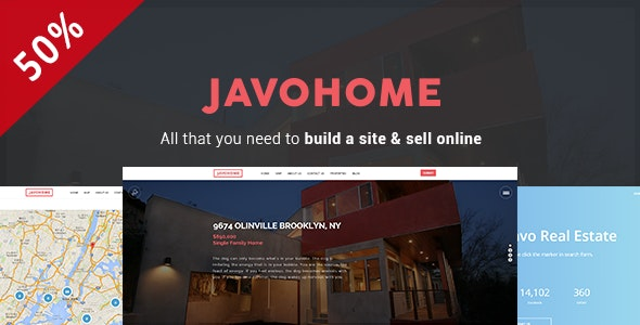 Javo Home - Real Estate WordPress Theme 1
