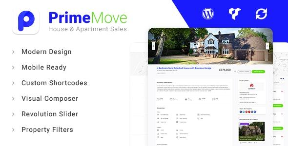 Primemove - Real Estate Property WordPress Theme 1
