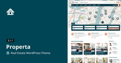 Properta - Real Estate WordPress Theme 3