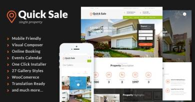 Quick Sale | Single Property Real Estate WordPress Theme 4