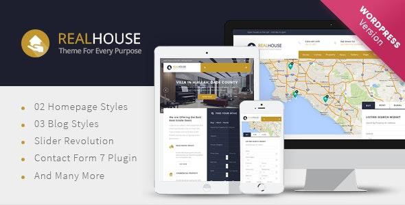 Realhouse - Real Estate WordPress theme 1