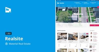 Realsite - Material Real Estate WordPress Theme 1