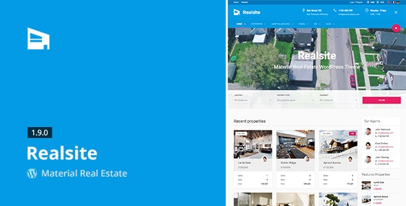 Realsite - Material Real Estate WordPress Theme 3