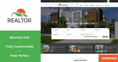 Realtor - Responsive Real Estate WordPress Theme 2