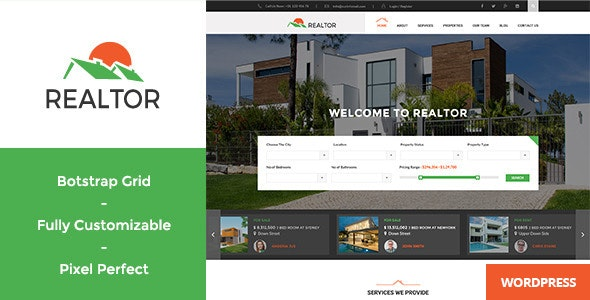 Realtor - Responsive Real Estate WordPress Theme 10