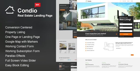 Single Property WordPress Theme - Condio 14