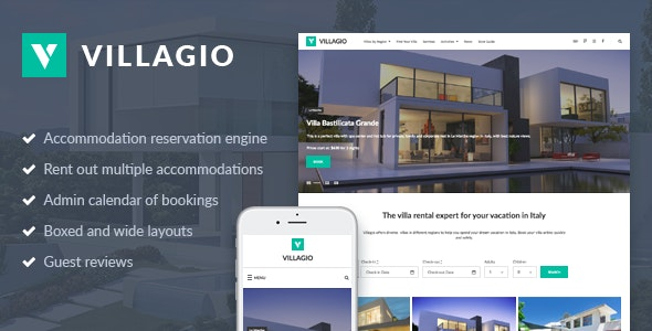 Vacation Rental WordPress Theme - Villagio 4