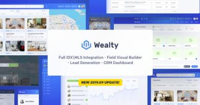 Wealty - Multipurpose Real Estate WordPress Theme 4