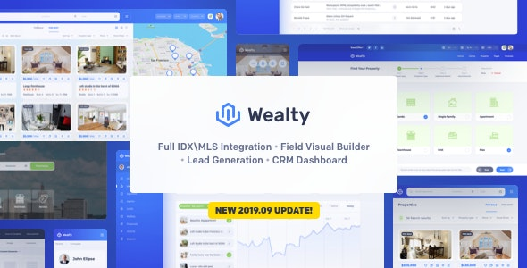 Wealty - Multipurpose Real Estate WordPress Theme 1