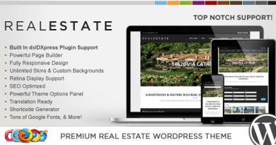 WP Pro Real Estate 5 Responsive WordPress Theme 5