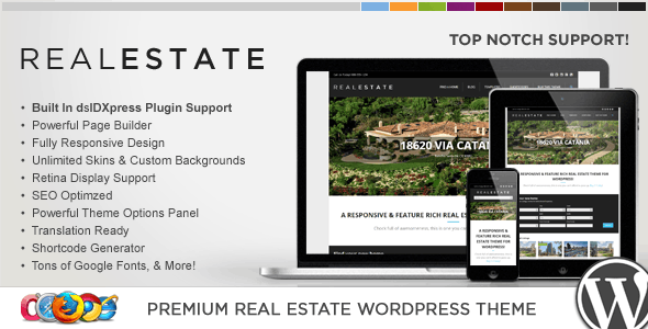 WP Pro Real Estate 5 Responsive WordPress Theme 8