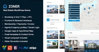 Zoner - Real Estate WordPress Theme 2