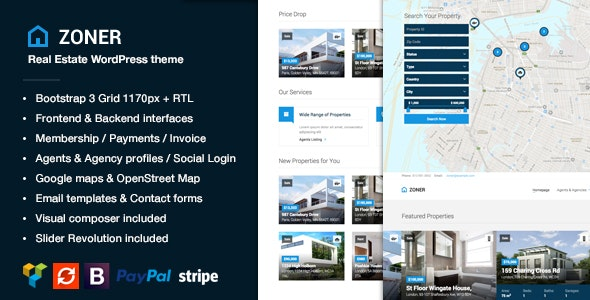 Zoner - Real Estate WordPress Theme 3