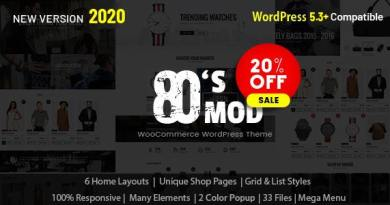 80's Mod - Build Your Store with A Vintage Styled WooCommerce WordPress Theme 2