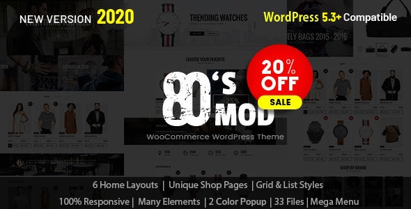 80's Mod - Build Your Store with A Vintage Styled WooCommerce WordPress Theme 3