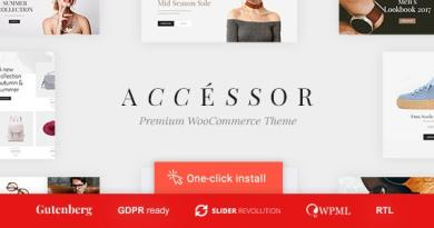 Accessories Shop - Online Store, WooCommerce & Shopping WordPress Theme 3