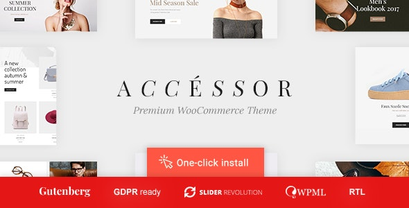 Accessories Shop - Online Store, WooCommerce & Shopping WordPress Theme 1